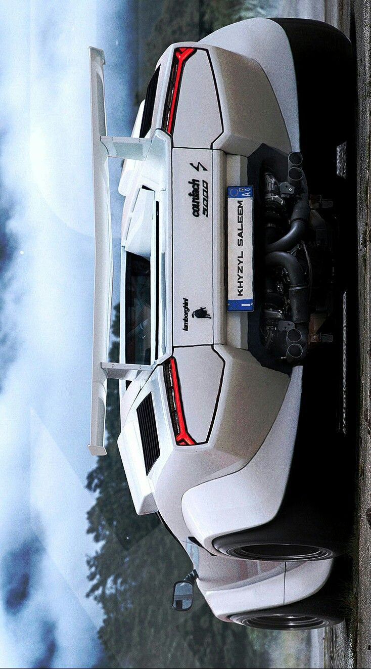 (°!°) Khyzyl Saleem's Lamborghini Countach with twin-turbocharged, Hell Yeah