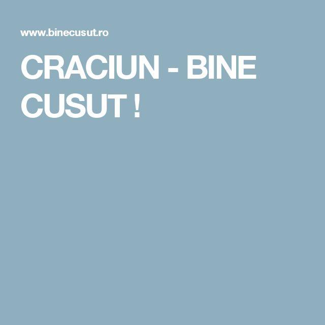 CRACIUN - BINE CUSUT !