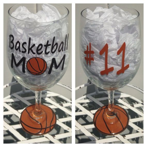 Basketball MOM Players Number Large Wine Glass by CrissCrossCraft, $12.50