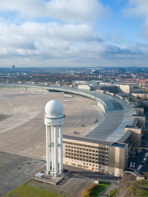Berlin Tempelhof Airport ~ Ernst Sagebiel (1941) ~ It's 2008 closure proved to be a controversial decision.