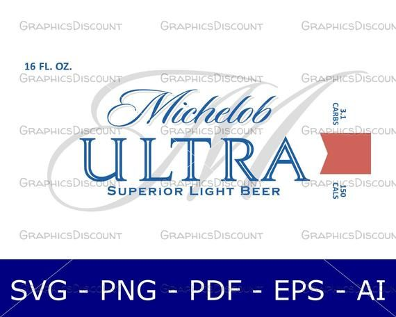 16oz Michelob Ultra Tumbler Decal Svg Ultra Tumbler Michelob Ultra Tumbler Cups Diy