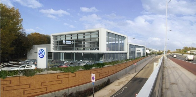 Coulsdon VW, South London.  A new flagship dealership for VW carrying the new branding.