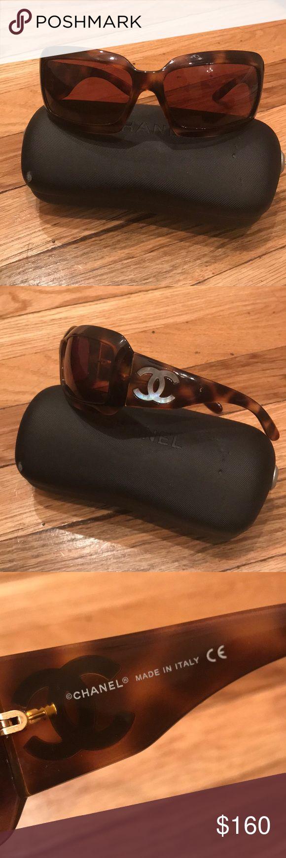 Chanel sunglasses Tortoise color wrap around, few scratches.. Very comfortable sunglasses CHANEL Accessories Sunglasses