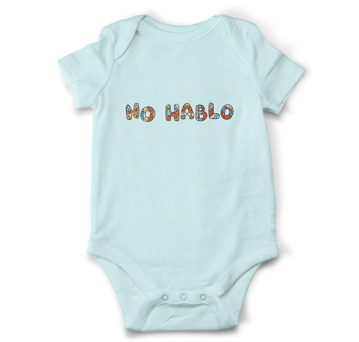 Funny baby onesie - No hablo, Funny baby shower gift, Funny baby boy bodysuit, Funny boy clothes, Mexican onesie by OldCauldronGifts on Etsy