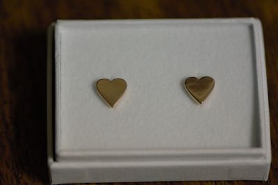 Lily Charmed Rose Gold Heart Earrings
