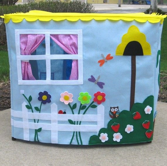 Sunshine Garden Card Table Playhouse by missprettypretty on Etsy
