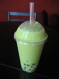My new favorite thing:  Honeydew bubble tea.  Is it possible to be addicted after having just one?