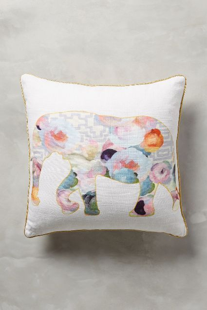 collaged fauna pillow by patricia vargas of parima. Black Bedroom Furniture Sets. Home Design Ideas