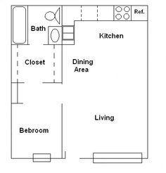 Image result for 600 square foot 1 bedroom basement suite - 1 bedroom basement apartment floor plans ...