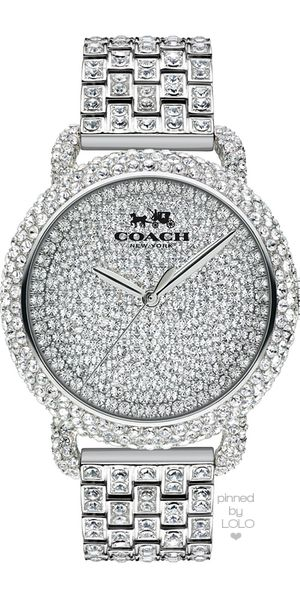 Coach Women's Crystal Accent Stainless Steel Bracelet Watch 36MM | LOLO❤︎