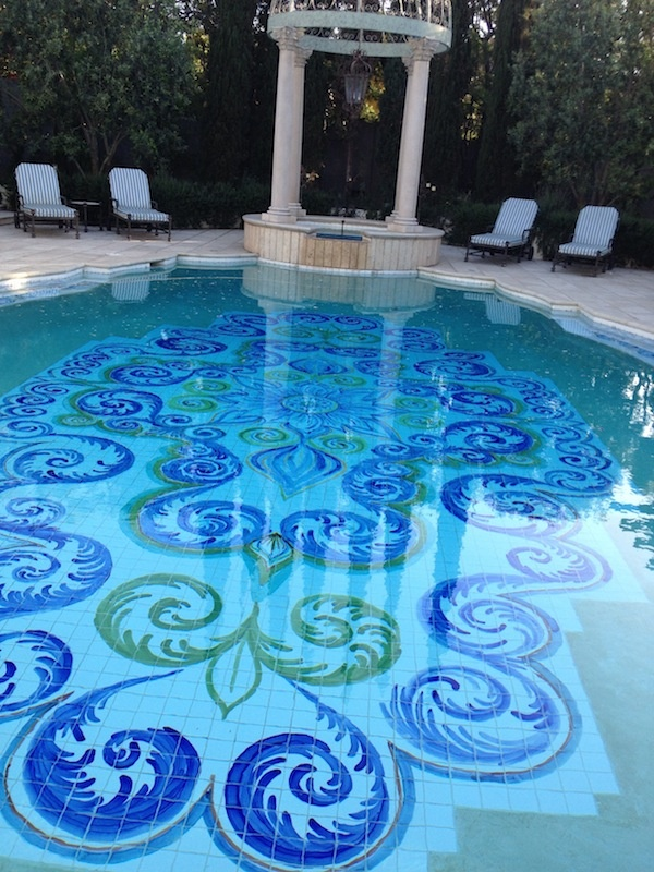 64 best images about cool pool mosaics on pinterest for Pool design graphic