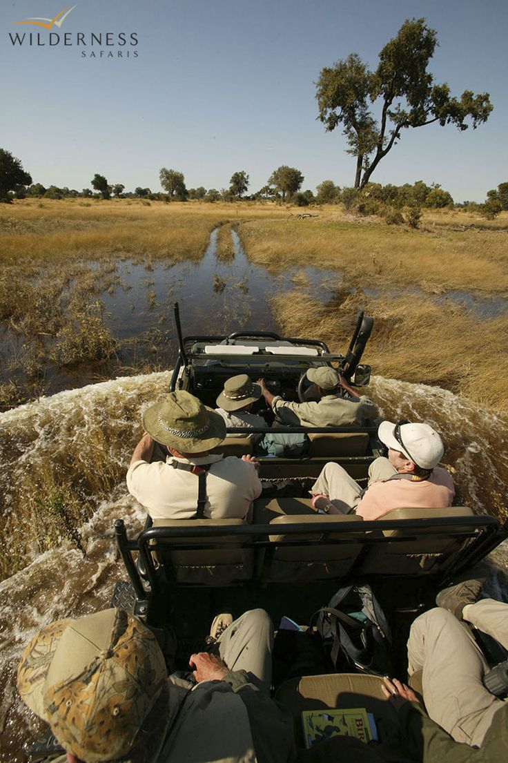 Little Vumbura - Game drives in open Land Rovers allow guests to get close to animals in the savannah areas. Walks (on request) around the islands are an opportunity to enjoy Africa from a different perspective. #Safari #Africa #Botswana #WildernessSafaris