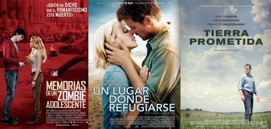 """Esta semana los estrenos de cine son: """"MEMORIAS DE UN ZOMBIE ADOLESCENTE"""", """"UN LUGAR DONDE REFUGIARSE"""" y """"TIERRA PROMETIDA""""."""