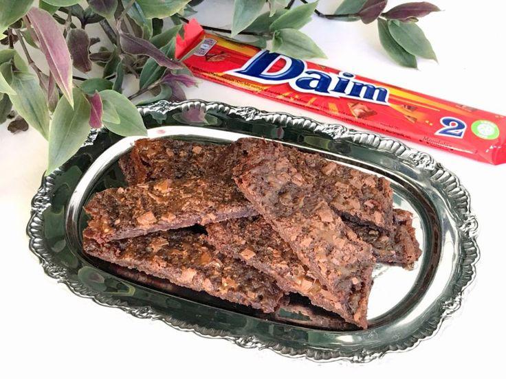 Glutenfria chokladsnittar med daim