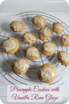Pineapple Cookies with Vanilla Rum Glaze   Cooking In Stilettos