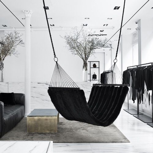 Suspended Black Hammocks // In need of a detox? Get 10% off your teatox order using our discount code 'Pinterest10' on www.skinnymetea.com.au