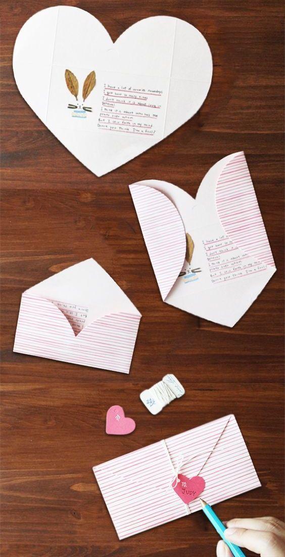 Como hacer cartas romanticas para san Valentin rapidamente y facil