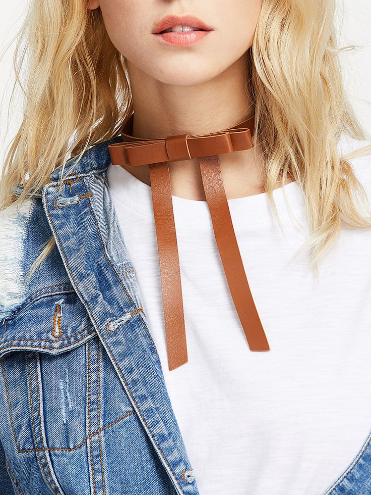 Shop Bow Tie Front PU Choker Necklace online. SheIn offers Bow Tie Front PU Choker Necklace & more to fit your fashionable needs.