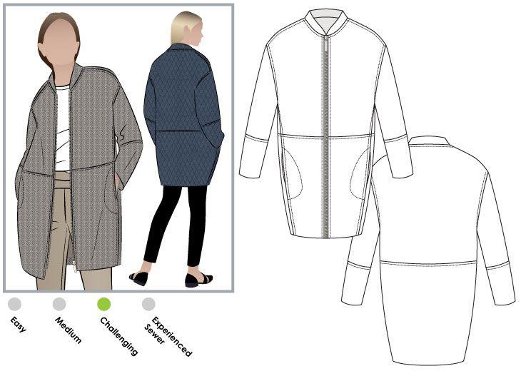Casey Coat - Style Arc Patterns