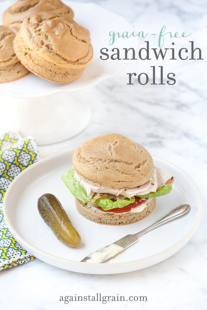 Grain-Free Sandwich Rolls - Danielle Walker's Against All Grain / Wholesome Foodie <3