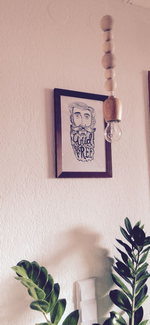 DIY Lampe Holzperlen