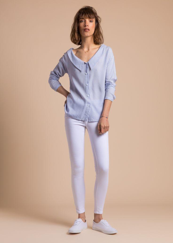 Collection PE 17 | La petite étoile blouse col pelle à tarte  chic classique  casual wear  casual chic