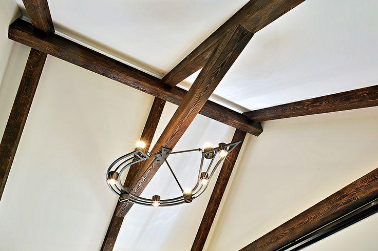 Detail osvětlení. Novostavba venkovského domu. Geddes-Kaňka Interiors.