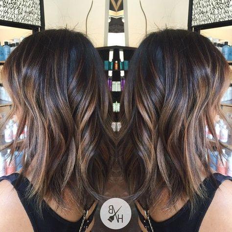 balayage brunette for medium hair