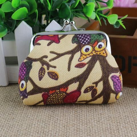 Women's Owl Purse - Khaki