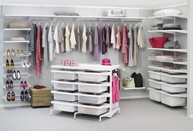 White Mesh Elfa Wardrobe