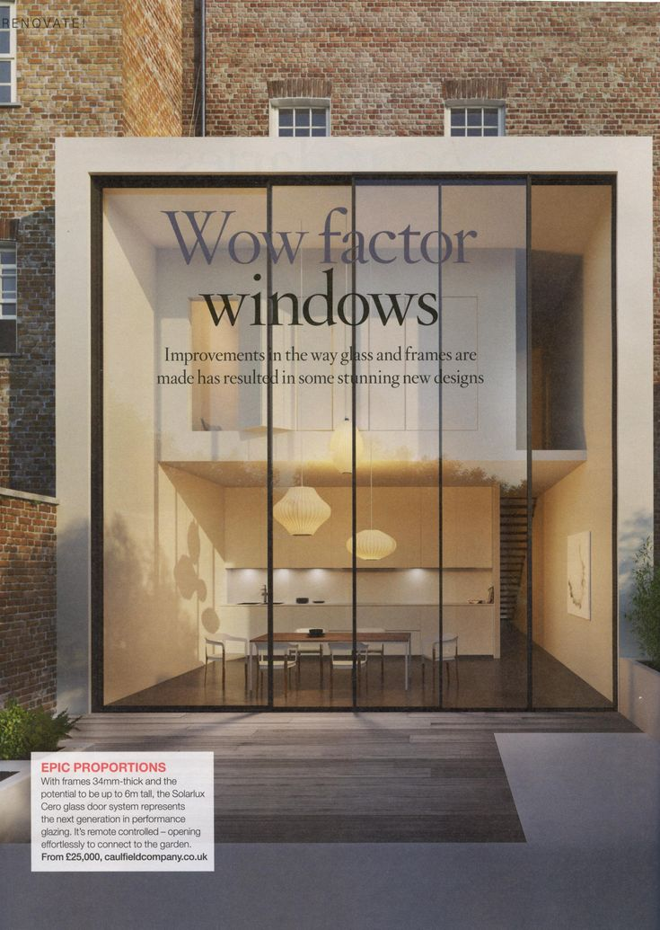 The Solarlux Cero glass door system from The Caulfield Company. caulfieldcompany.co.uk House Beautiful Renovate Supplement March 2018