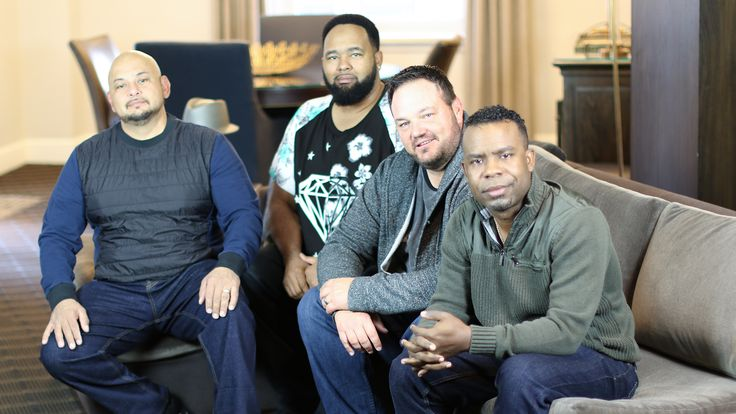 """All-4-One is aR&B and pop group, best known for their cover hit single """"I Swear"""" from their self-titled debut album. The group comprises Jamie Jones, Delious Kennedy, Alfred Nevarez, and Tony Borowiak. The group has sold 22 million records worldwide."""