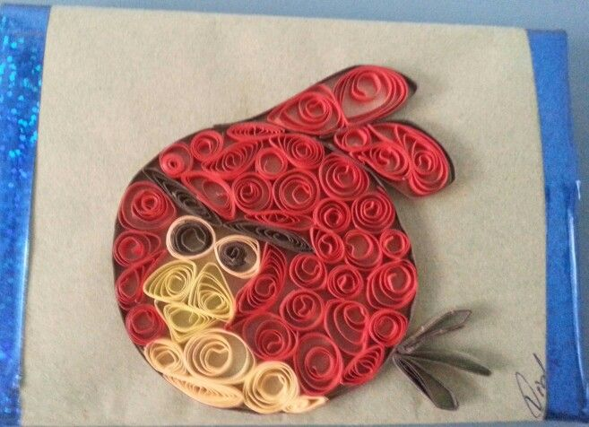 Quilling-Angry  bird