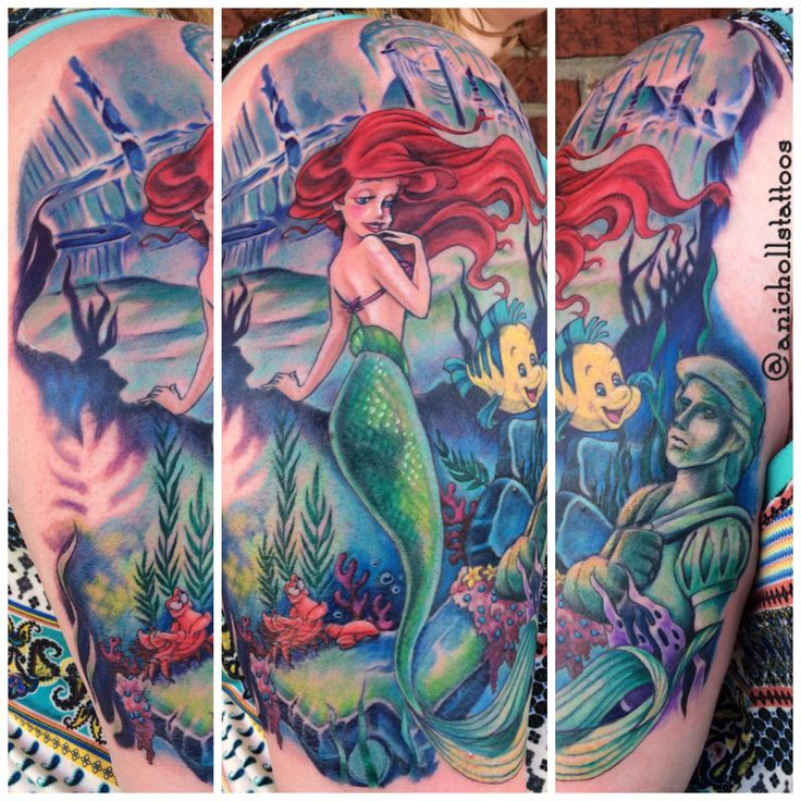 Collector: Christina Russell Title: Little Mermaid Sleeve Tattoo Artist: Amy Nicholls