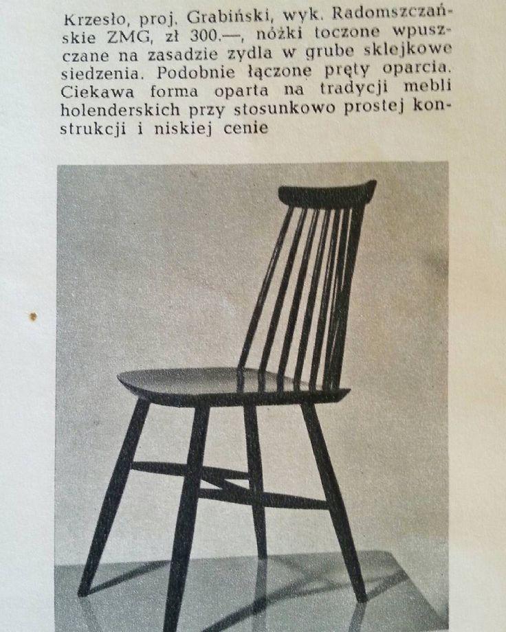 #Grabinski #chair #krzesło #stuhl #projektvintage #Poznań #furniture…