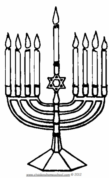Free Hanukah Coloring Pages, Plus Full Free Coloring Book
