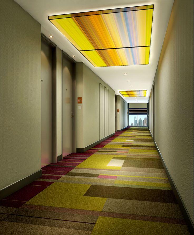 hotel hallway lighting. aloft guangzhou tianhe hotel designed by studio hba hallway lighting