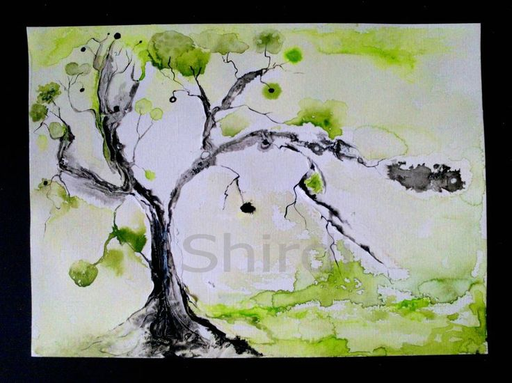 MY TREE`S Tree -original waterpainting