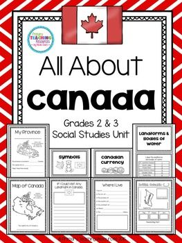 $ Canada Social Studies Unit: Provinces, Territories, Symbols, Currency, Landforms, and Bodies of Water.