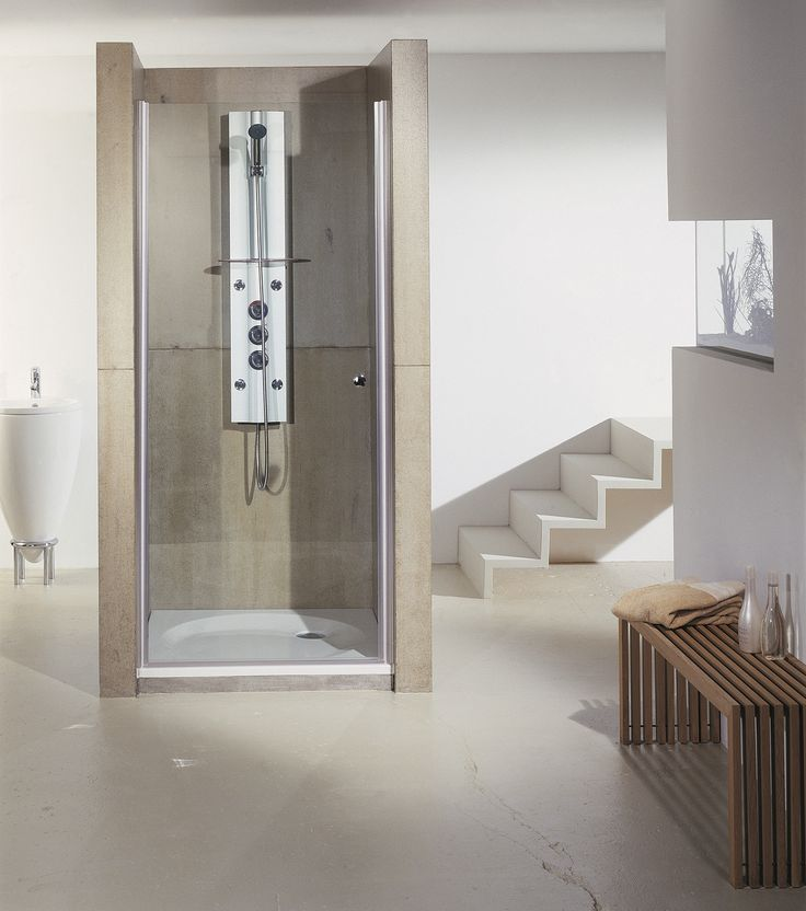 Porte de douche pivotante Cedam en verre SECURIT 6mm avec traitement anti calcaire. #douche