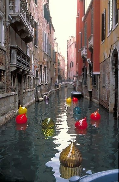 Chihuly Glass bobbers in Venice