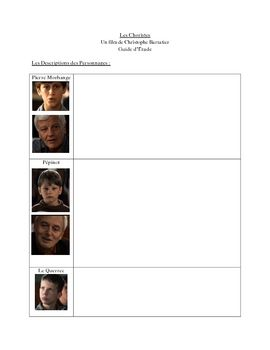 """Study Guide for French Film """"Les Choristes"""" (10 Pages)"""