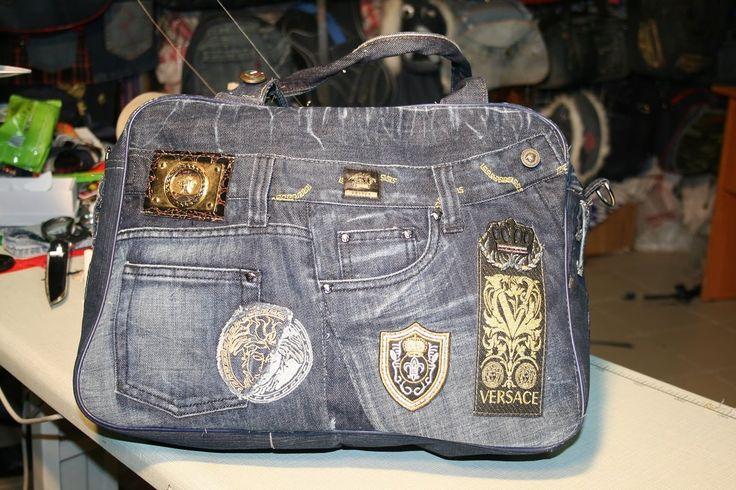 Шикарная сумка из джинсов VERSACE своими руками