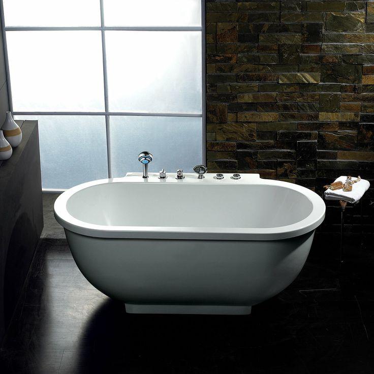 Ariel bath am128 ariel platinum whirlpool freestanding tub