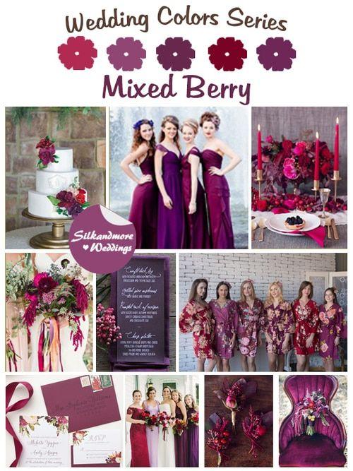 Mixed Berry Wedding Color Robes – Hochzeitsfarbpalette   – ✨ Wedding 2 ✨