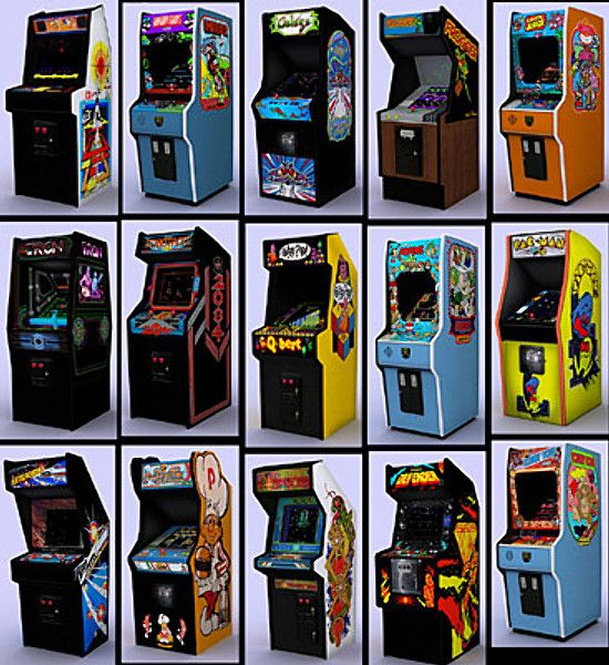 - classic arcade pack 3d model - Classic arcade games - full pack... by lkraan