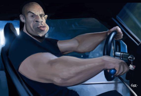 Vin Diesel caricature by GuillermoRamirez.deviantart.com on @deviantART