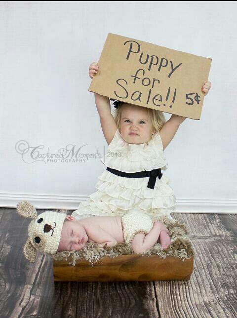 Newborn Crochet Puppy Hat and Diaper Cover, boys girls crochet puppy hat, photo prop baby shower gift
