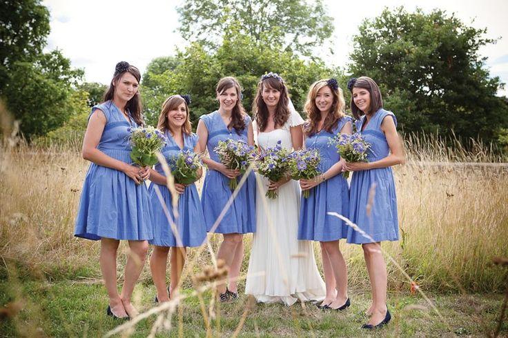 #blue #bridesmaid #dresses