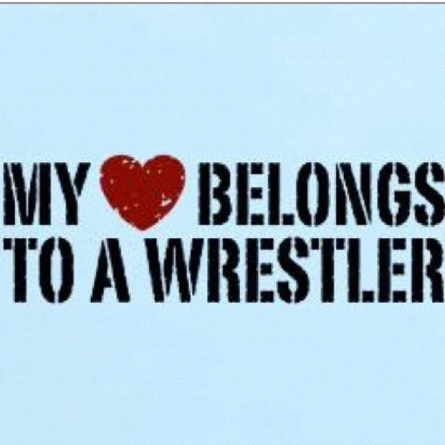 proud to be a wrestler's girlfriend! :)